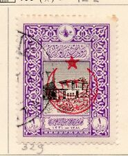Turkey 1916 Early Issue Fine Used 1p. Star and Moon Optd 167777