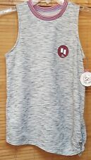 NEW So Authentic American Heritage Gray Spacedye Muscle Tank Knit Top XS NWT