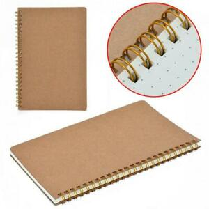 A5 100pages Bullet Journal Notebook Hardcover Cardboard Grid Dotted Spiral Diar