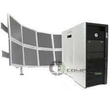 HP Z820 Computer 8 Monitor Support  E5-2640 2.5 GHz 24GB RAM 500GB HDD NVS 510