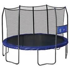 Skywalker Trampolines 12' Round Jump-N-Toss Trampoline with Enclosure - Blue