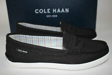 NIB COLE HAAN Size 5.5 Women's Black Canvas PINCH Weekend Loafer