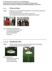 Team - Training - Tools mit 4 Aktivitäten in- und outdoor
