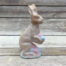 Midwest of Cannon Falls Ceramic Matte Easter Bunny Rabbit Eggs Figurine