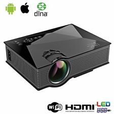 UK 1080P Mini Projector Smart LED Home Cinema With Airplay WiFi HDMI VGA USB SD