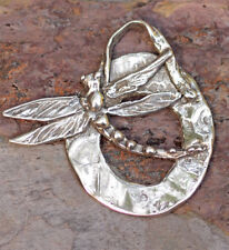 Rustic Dragonfly Pendant Sterling Silver, Follow Your Dream