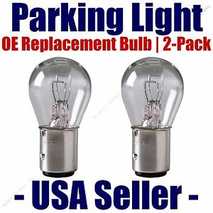 Parking Light Bulb 2 pk OE Replacement Fits Listed Cadillac Vehicles 1157