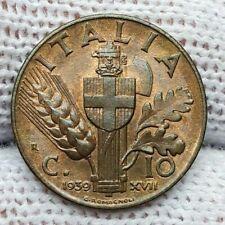 REGNO D'ITALIA, Vittorio Emanuele III 10 centesimi impero 1939, FDC eccezionale