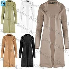 Womens Ladies Cape Cardigan Collared Open Plus Size Turn Up Sleeve Casual Coat