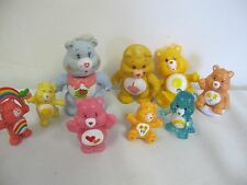 CARE BEARS FIGURES LOT OF (9) VINTAGE AND NOW  POSEABLE GRAMS BIRTHDAY - MORE