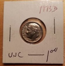 1973 Roosevelt US Dime D in UNCIRCULATED (UNC) Condition