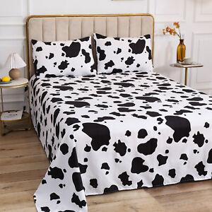 4 Piece Set Cow Print Bedding Sets Duvet Quilt Cover Set Single Double King Size
