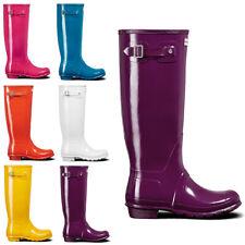 Womens Hunter Original Tall Gloss Waterproof Rubber Rain Boot Wellington US 5-11