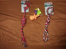 3 pack of chewy toys 2 rope and a pacifier