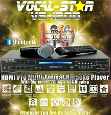 More details for vocal-star vs-1200 cdg dvd bluetooth karaoke machine 2 microphones & 150 songs