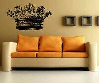 Wall Vinyl Sticker Decals Art Decor King Queen Old Vintage Crown  #1215