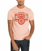Buffalo David Bitton Mens T-Shirt Pink Size 2XL Flocked Graphic Tee $29 002