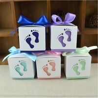 10/20/50/100Pcs feet Favor Ribbon Gift Box Candy Boxes Wedding Sweet Party Decor