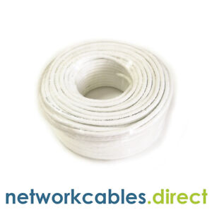 CAT6 UTP External Outdoor Network Ethernet lan Cable 50m or 100m Copper WHITE