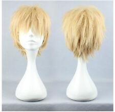 DRAMAtical Murder DMMD Noiz Noise Short Blonde Anime Cosplay Costume wig +CAP