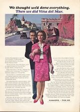 1965 PanAm Pan Panagra Vena del Mar PRINT AD