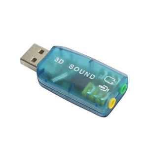 USB 2.0 Mic/Speaker 3D 5.1 Audio Surround Sound Card Adapter