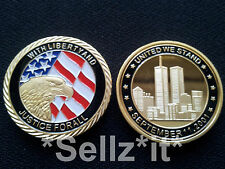 1oz Oro Coin SETTEMBRE 11th 911 Eagle New York United We City Stand Uomo USA