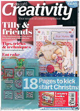 Docrafts creativity magazine 40 July 2013 Tilly Daydream + free Christmas stamps