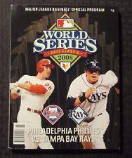 2008 WORLD SERIES Program VF- 7.5 Philadelphia Phillies vs Tampa Bay Rays