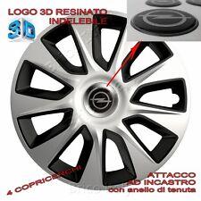 4 Copricerchi Calotte Stratos 15 pollici Logo resinato 3D OPEL per Zafira Corsa