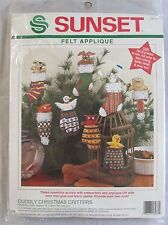 Sunset Felt Applique Kit Cuddly Christmas Critters Mittens & Stockings New
