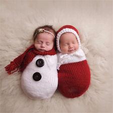 Newborn Baby Crochet Knit Costume Photography Photo Prop Shoot Snowman Ha .