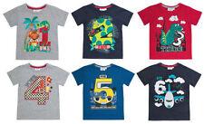 Camisetas de niño de 2 a 16 años multicolor de poliéster