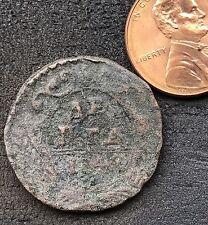 1748 DENGA OLD RUSSIAN IMPERIAL COIN. ORIGINAL Денга Деньга. Elizabeth 1741-62