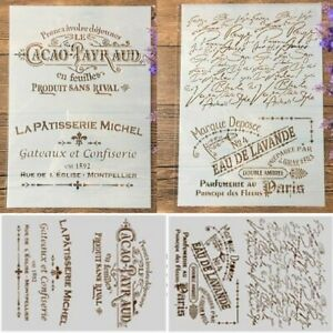 French Words DIY Craft Layering Stencils Painting Scrapbooking Stamping Embossin