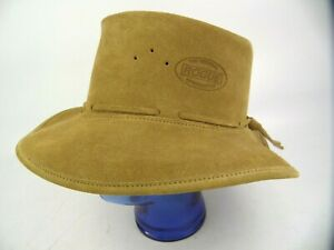 The Original Rogue Leather Bush Hat By Trevor Selke New Size M