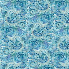 Wilmington Early to Rise by Danhui Nai 89160 444 Blue Paisley  Cotton Fabric