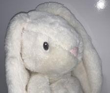 "Baby Ganz Downy Floppy Soft White Bunny Pink Nose Plush Stuffed Animal, 11"" New"