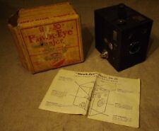 Ancien appareil photo Kodak Hawk Eye Major Six 20 avec notice et boite d'origine