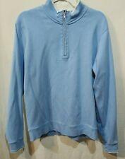 Golf Jacket Size Large Carnoustie 100% Cotton blue Quarter Zip