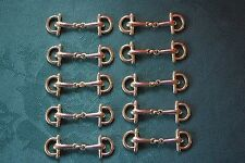 10 x Gold Plated Equestrian Eggbutt Snaffle Horse Bit Fittings / Charms