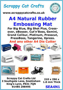 A4 Natural Rubber Mat for GoPower & Emboss & any A4 Die Cutter  SEA4N1  16