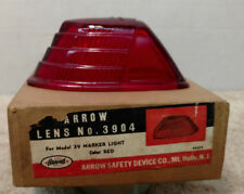 NEW ARROW GLASS MARKER LENS 3904 RED  Lot of 6