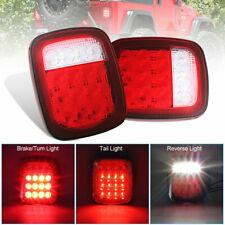 Fit Jeep Wrangler TJ CJ YJ LED Tail Light Rear Light Brake Reverse Turn Signal