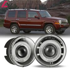 For Jeep Commander 06-10 Clear Lens Pair Bumper Fog Light Lamp Halo Projector