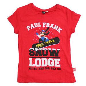 Licensed Womens Ladies Paul Frank RED Loungable T-Shirt Top Size 6-8 Pj Top