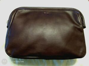 FURLA  Pouch Clutch Hand Bag Leather black
