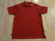 Men's Adidas Climalite L Polo Red & Black Striped
