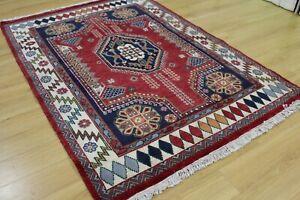 Oriental Persian Hand Knotted Handmade Tribal Wool Rug Carpet Floor Room Red