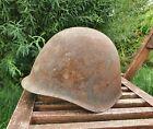 Original Military Helmet SSh 40 Steel WW2 Relic of Battlefield Soviet Army RKKA